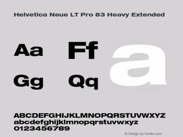HelveticaNeueLT Pro 63 MdEx Bold Version 2.000 Build 1000图片样张