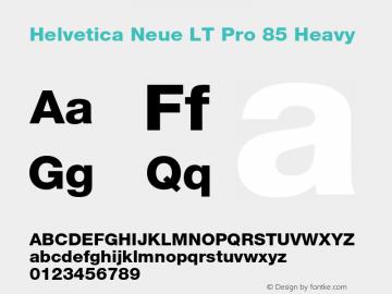 HelveticaNeueLT Pro 65 Md Bold Version 2.000 Build 1000图片样张
