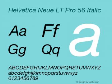 HelveticaNeueLT Pro 55 Roman Italic Version 2.000 Build 1000图片样张