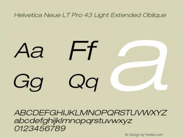 HelveticaNeueLT Pro 43 LtEx Italic Version 2.000 Build 1000图片样张