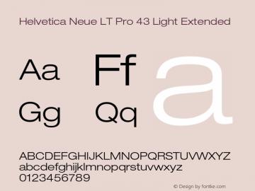 HelveticaNeueLT Pro 43 LtEx Version 2.000 Build 1000图片样张