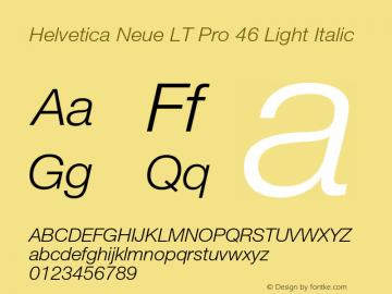 HelveticaNeueLT Pro 45 Lt Italic Version 2.000 Build 1000图片样张