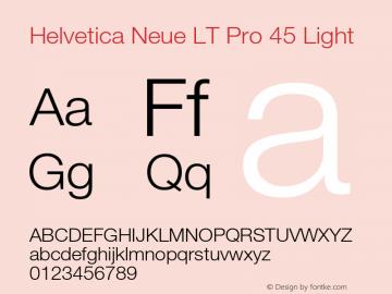 HelveticaNeueLT Pro 45 Lt Version 3.000 Build 1000图片样张