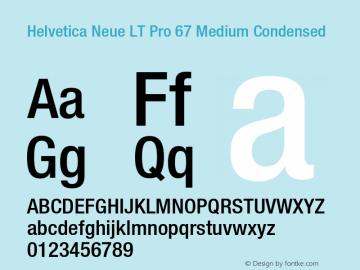 HelveticaNeueLT Pro 67 MdCn Version 3.000 Build 1000图片样张