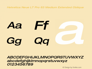 HelveticaNeueLT Pro 63 MdEx Italic Version 2.000 Build 1000图片样张