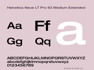 HelveticaNeueLT Pro 63 MdEx Version 2.000 Build 1000图片样张