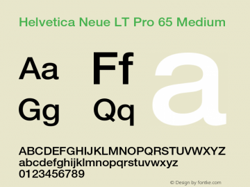 HelveticaNeueLT Pro 65 Md Version 3.000 Build 1000图片样张
