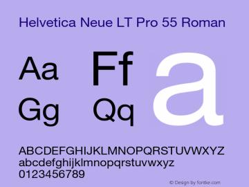 HelveticaNeueLT Pro 55 Roman Version 3.000 Build 1000图片样张