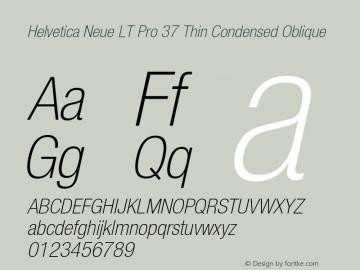 HelveticaNeueLT Pro 37 ThCn Italic Version 2.000 Build 1000图片样张