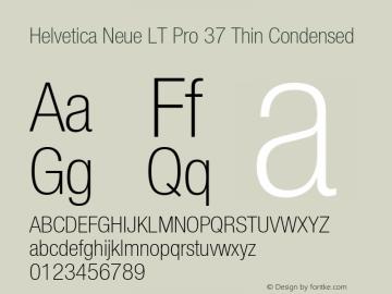 HelveticaNeueLT Pro 37 ThCn Version 3.000 Build 1000图片样张