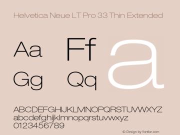 HelveticaNeueLT Pro 33 ThEx Version 2.000 Build 1000图片样张