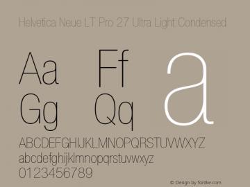 HelveticaNeueLT Pro 27 UltLtCn Version 3.000 Build 1000图片样张