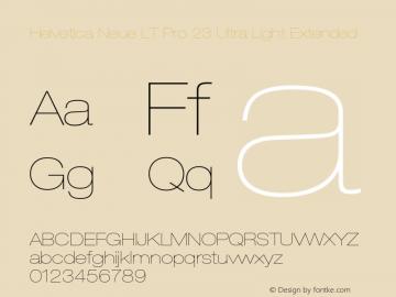 HelveticaNeueLT Pro 23 UltLtEx Version 2.000 Build 1000图片样张