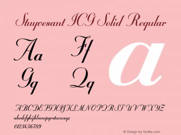 Stuyvesant ICG Solid Altsys Fontographer 4.1 19/09/95图片样张