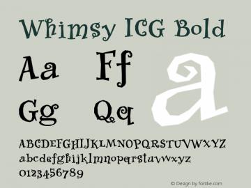 Whimsy ICG Bold Altsys Fontographer 4.1 26/09/95图片样张