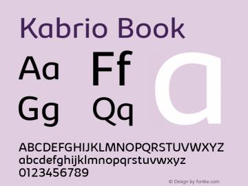 Kabrio Book Version 1.000图片样张