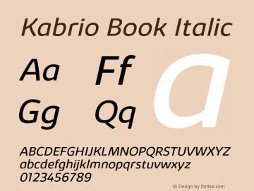 Kabrio-BookItalic Version 1.000图片样张