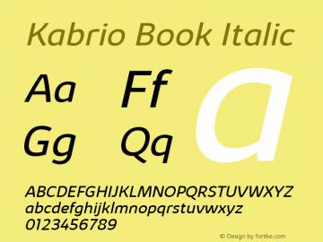 Kabrio Book Italic Version 1.000图片样张