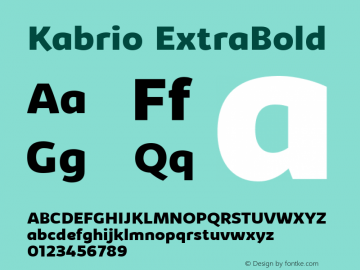 Kabrio ExtraBold Version 1.000图片样张