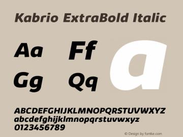 Kabrio-ExtraBoldItalic Version 1.000图片样张