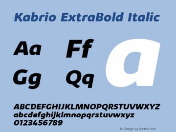 Kabrio ExtraBold Italic Version 1.000图片样张