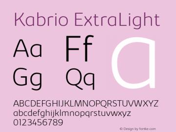Kabrio ExtraLight Version 1.000图片样张