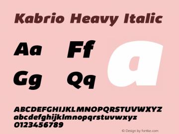 Kabrio-HeavyItalic Version 1.000图片样张