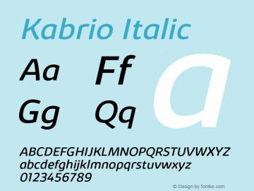 Kabrio-Italic Version 1.000图片样张