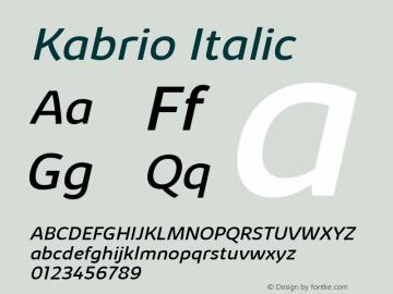 Kabrio Italic Version 1.000图片样张