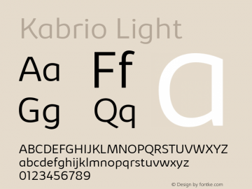 Kabrio Light Version 1.000图片样张