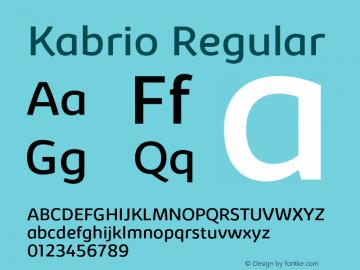 Kabrio-Regular Version 1.000图片样张