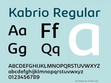 Kabrio Regular Version 1.000图片样张