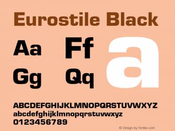Eurostile-Bla Version 1.000;PS 1.10;hotconv 1.0.57;makeotf.lib2.0.21895图片样张