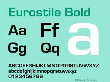 Eurostile-Bol Version 1.000;PS 1.10;hotconv 1.0.57;makeotf.lib2.0.21895图片样张