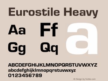 Eurostile-Hea Version 1.000;PS 1.10;hotconv 1.0.57;makeotf.lib2.0.21895图片样张