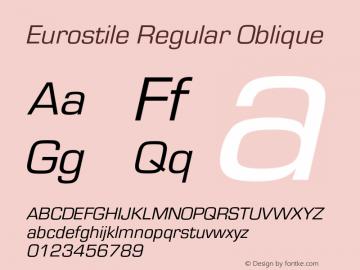 Eurostile-RegObl Version 1.000;PS 1.10;hotconv 1.0.57;makeotf.lib2.0.21895图片样张