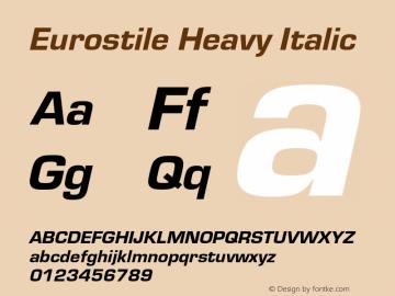 Eurostile-HeaIta Version 1.000;PS 1.10;hotconv 1.0.57;makeotf.lib2.0.21895图片样张