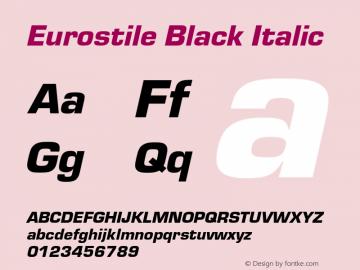 Eurostile-BlaIta Version 1.000;PS 1.10;hotconv 1.0.57;makeotf.lib2.0.21895图片样张