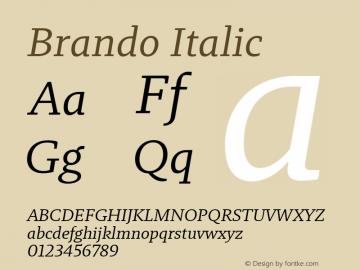 Brando Italic Version 1.000图片样张
