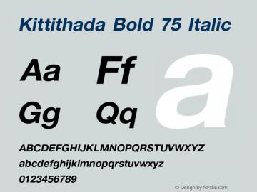 kittithada bold 75