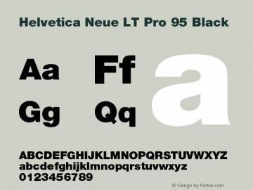 Helvetica Neue LT Pro 95 Black Version 1.000;PS 001.000;Core 1.0.38图片样张