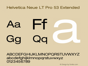 Helvetica Neue LT Pro 53 Extended Version 1.000;PS 001.000;Core 1.0.38图片样张