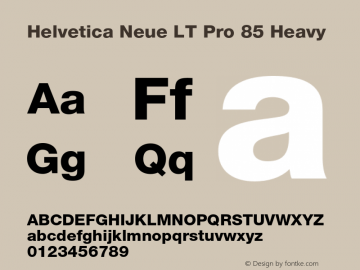 HelveticaNeueLTPro-Hv Version 1.500;PS 001.005;hotconv 1.0.38图片样张