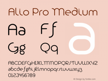 Alio Pro Medium Version 1.003;PS 001.003;hotconv 1.0.88;makeotf.lib2.5.64775图片样张