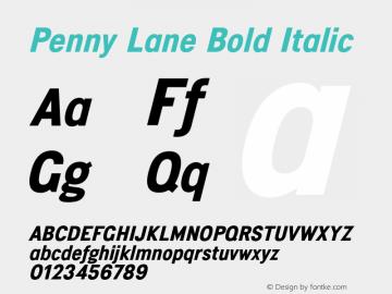 PennyLane-BoldItalic Penny Lane (version 1.0)  by Keith Bates  -  © 2014   www.k-type.com图片样张