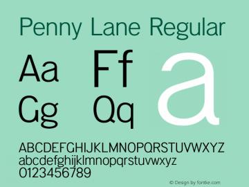 PennyLane-Regular Penny Lane (version 1.0)  by Keith Bates  -  © 2014   www.k-type.com图片样张