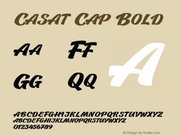 CasatCapBold Version 1.000图片样张