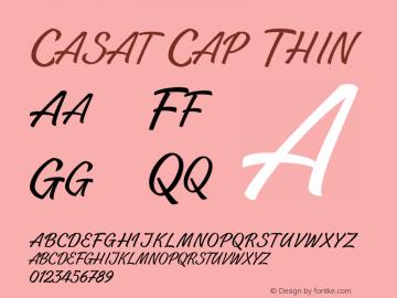 CasatCapThin Version 1.000图片样张