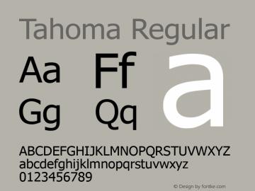Tahoma Version 5.22图片样张