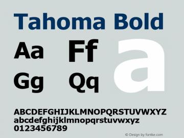 Tahoma Bold Version 5.22图片样张